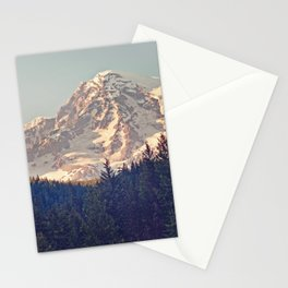 Mount Rainier Retro Stationery Cards