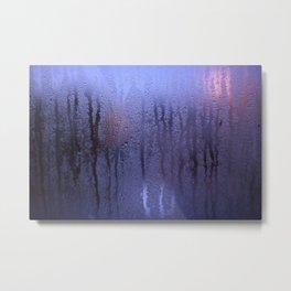 Purple Condensation Metal Print