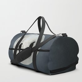 Two Crows In The Light Of A Silvery Moon Duffle Bag