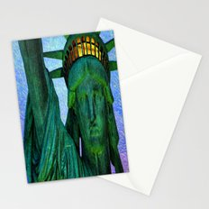 Statue of Liberty 4th of July tribute Stationery Cards