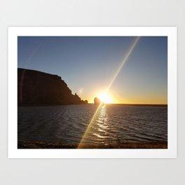 Sunset Between the Rocks Art Print