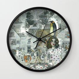 """A Woman in the Old Town"" Wall Clock"