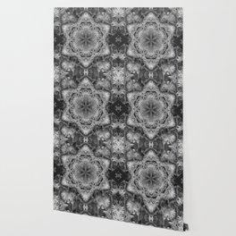 Magical black and white mandala 011 Wallpaper