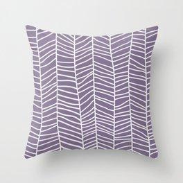 Baesic Herringbone (Eggplant) Throw Pillow