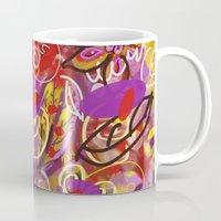 renaissance Mugs featuring Renaissance Fair by Teri Newberry