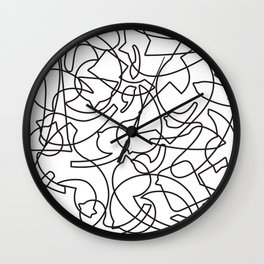 Jolly Clips (White) Wall Clock