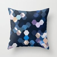 honeycomb Throw Pillows featuring HONEYCOMB by ED design for fun