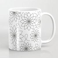 stark Mugs featuring Stark Flowers by SonyaDeHart