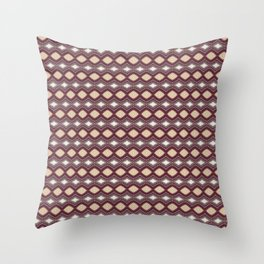 Handcrafted Diamonds Claret Throw Pillow