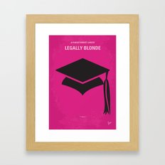 No301 My Legally Blonde minimal movie poster Framed Art Print