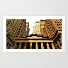 'Wall Street NYC' Art Print