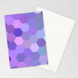 Gradient Purple Mosaic Pattern Stationery Cards