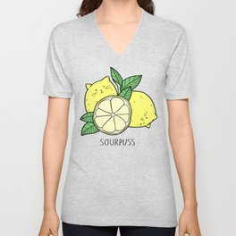 Sourpuss (colourised) Unisex V-Neck