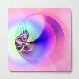 Pink Ball Metal Print