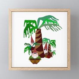 Beach Gnomes Framed Mini Art Print