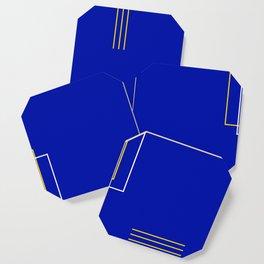 Blue Door Abstract Coaster