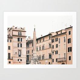 Square in Rome Art Print