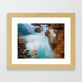 Alone on the lake Framed Art Print
