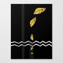 Meraki Fall [Gold Noir] Canvas Print