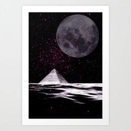 PINK UFO Art Print