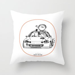 Crazy Car Art 0202 Throw Pillow