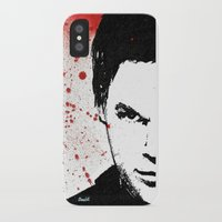 dexter iPhone & iPod Cases featuring Dexter by Carolyn Campbell