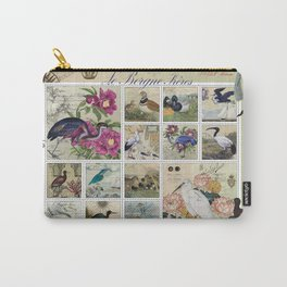 Coastal Bird Postal Collage Carry-All Pouch