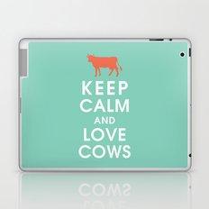 Keep Calm and Love Cows Laptop & iPad Skin