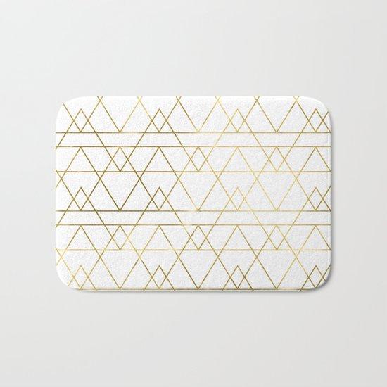 Modern Gold Bath Mat