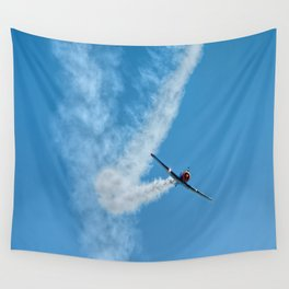 Air show with old military aircraft Wall Tapestry