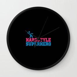 Hard style superhero rave design Wall Clock