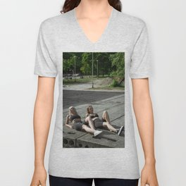 The Lure of a Tan Unisex V-Neck
