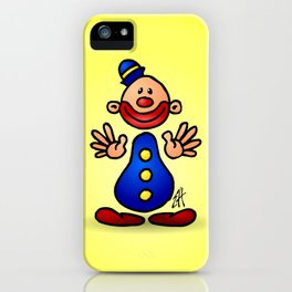 Cheerful circus clown iPhone Case