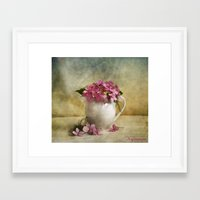 hydrangea Framed Art Prints featuring Hydrangea by Fine Art by Rina