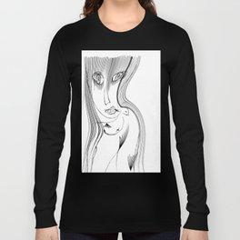black bangs Long Sleeve T-shirt