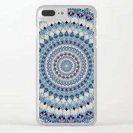 Mandala 587 Clear iPhone Case
