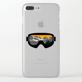Sunset Goggles 2 | Goggle Designs | DopeyArt Clear iPhone Case