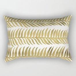 Golden Seaweed Rectangular Pillow