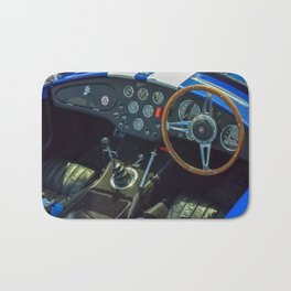 Blue Sport Car Bath Mat