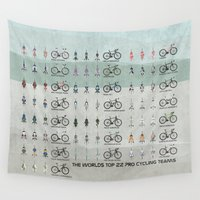 cycling Wall Tapestries featuring Pro Cycling Teams by Wyatt Design