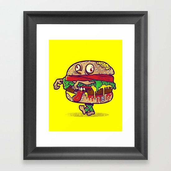 ZOMBURGER Framed Art Print