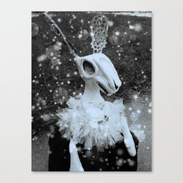 Steampunk Rabbit, Black and White, Rabbit, Artsy Canvas Print