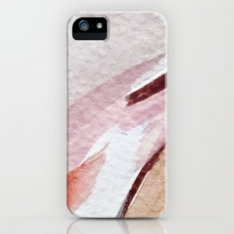 Away [2]: an abstract mixed media piece in pinks and reds iPhone Case
