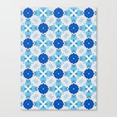 Watercolor Geometry Blue Canvas Print