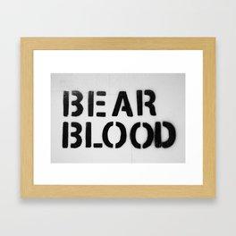 BearBlood logo Framed Art Print