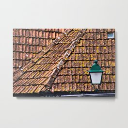 Weathered Terracotta Tile Roofs Metal Print