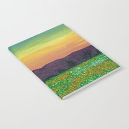 Temecula, California Spring Field of Poppies Notebook