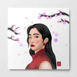 Cherry Blossom In Korea Metal Print