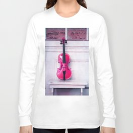 pink violin Long Sleeve T-shirt