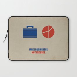 Lab No.4 -Make Businesses, Not Excuses Corporate Start-up Quotes poster Laptop Sleeve